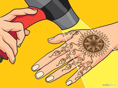 Keringkan Henna