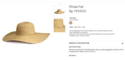 4. Straw Hat (Rp199.900)