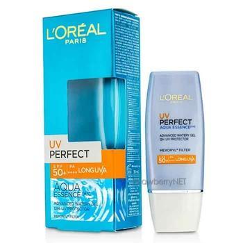 1. L'Oreal Paris UV Perfect Aqua Essence Advanced Watery Gel SPF 50
