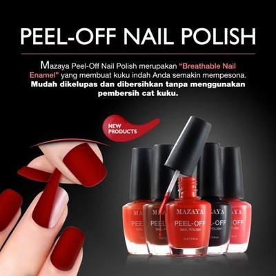 Pilihan Warna Mazaya Peel Off Nail Polish