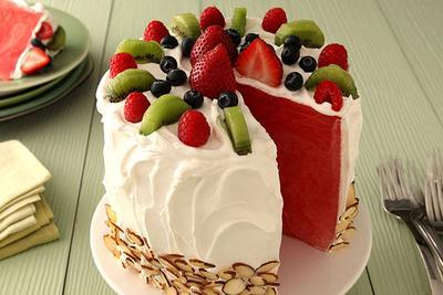 Segar dan Manis, Cara Membuat Cake Semangka