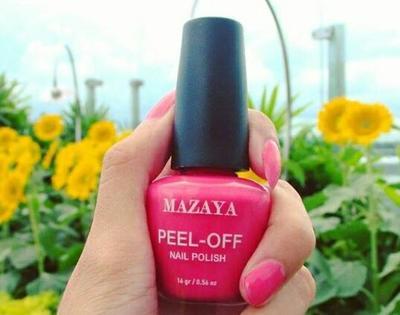 Mazaya Peel Off Nail Polish, Kutek Lokal yang Halal