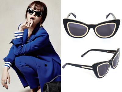 Karen Walker Black Eclipse Sunglasses