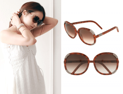 Chloé Myrte Oversized Round Sunglasses