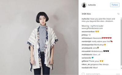 Evita Nuh dan Kimono Batik
