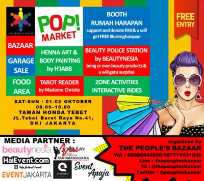 Hunting Barang Lucu & Murah Dengan Suasana Taman Kota di POP! MARKET Bazaar