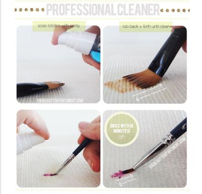 Membersihkan Brush Dengan Professional Cleaner