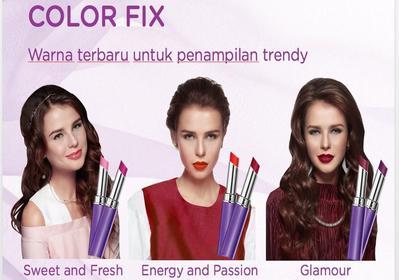 6 Warna Baru dari Mirabella Colorfix Lipstick