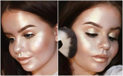Full Face Using Highlighter
