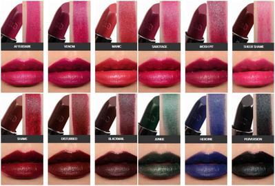 Swatch 100 Warna Urban Decay Vice Lipstick