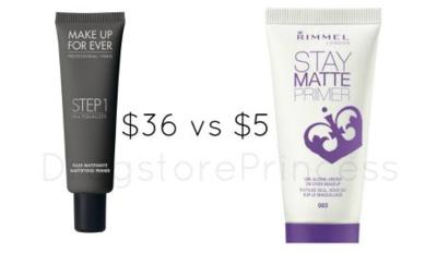 Make Up For Ever Step 1 Equalizer Mattifying vs Rimmel Stay Matte Primer