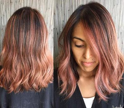2. When Rose Gold Mixed Meets Black