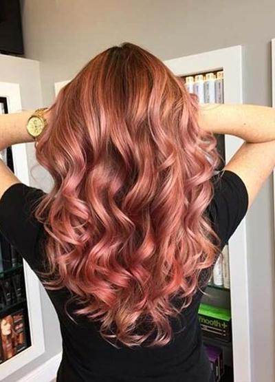 3. Voluptuous Rosy Gold Curls