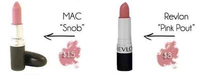 """MAC """"Snob"""" vs Revlon """"Pink Pout"""""""
