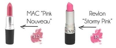 """MAC """"Pink Nouveau"""" vs Revlon """"Stormy Pink"""""""