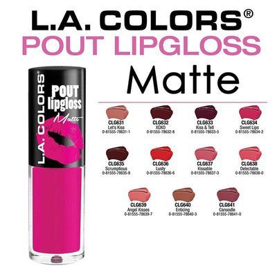 Shade-Shade L.A. Colors Pout Lip Gloss Matte