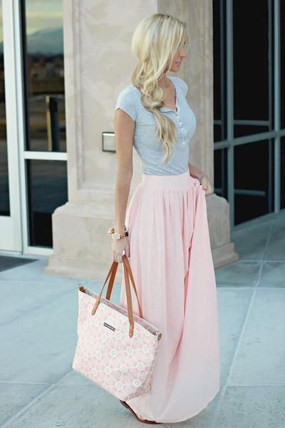 Feminine & Sweet with Long Skirt