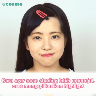 Cara agar nose shading lebih menonjol. cara mengaplikasikan highlight