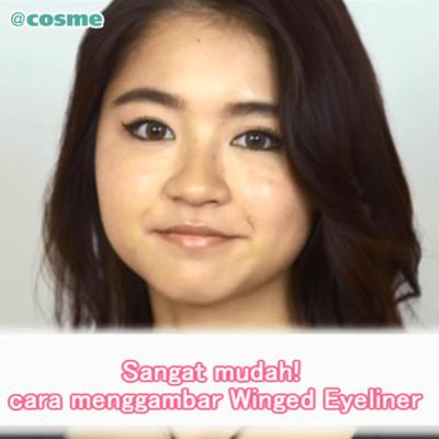 Sangat mudah! cara menggambar Winged Eyeliner