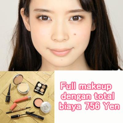 Full makeup dengan total biaya 756 Yen
