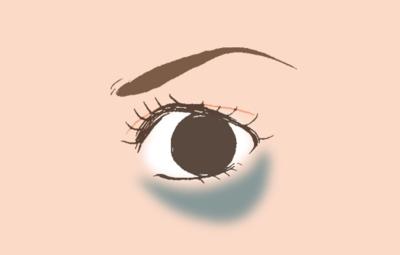 Mata Panda Tipe ① Lingkaran Bawah Mata Bewarna Kebiru-biruan