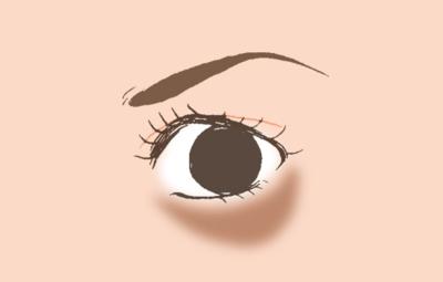 Mata Panda Tipe ② Lingkaran Bawah Mata Bewarna Kecokelatan