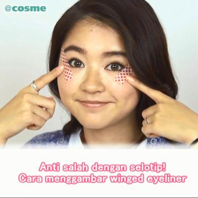 Anti salah dengan selotip! Cara menggambar winged eyeliner