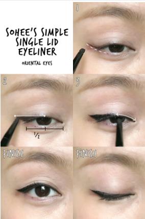 Berbagai Gaya Eyeliner ala Artis Korea yang Mudah untuk Dibuat (Bagian 2)