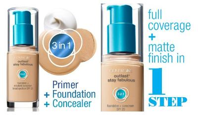 Outlast Stay Fabulous 3-in-1 Foundation dari Covergirl