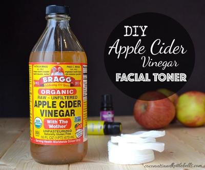 Kulit Bebas Jerawat dengan DIY Apple Cider Vinegar Facial Toner