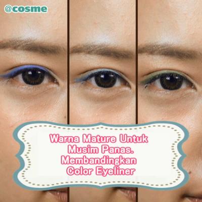 Warna Mature Untuk Musim Panas. Membandingkan Color Eyeliner