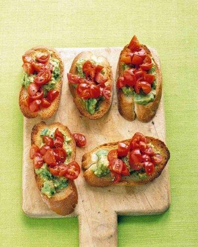 2. Tomato and Avocado Bruschetta