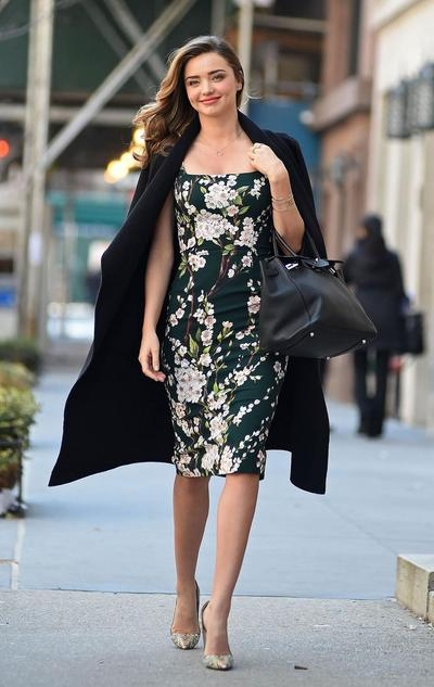 Coat dan Floral Dress