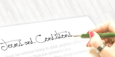Selalu Baca Terms And Conditions Pengiriman Barang