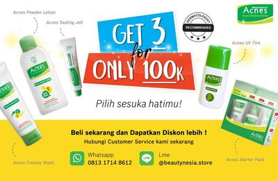 [Diskon Menarik!] Beli Acnes Treatment Series Hanya di Beautynesia Store!