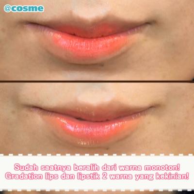 Sudah saatnya beralih dari warna monoton! Gradation lips dan lipstik 2 warna yang kekinian!