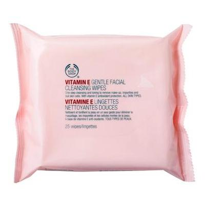 2.The Body Shop Vitamin E Gentle Facial Cleansing Wipes