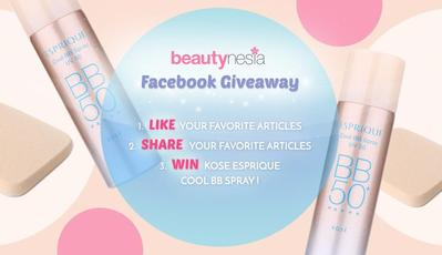 JOIN BEAUTYNESIA FACEBOOK GIVEAWAY & WIN KOSE ESPRIQUE COOL BB SPRAY!