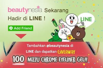 BEAUTYNESIA LINE GIVEAWAY! Add LINE Beautynesia dan Dapatkan 100 MIZZU Chrome Eyeliner Gel!