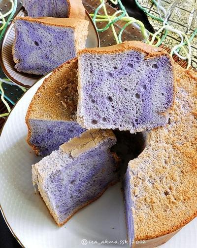 Resep Mudah Membuat Chiffon Taro yang Super Lembut dan Moist dari Ubi Ungu