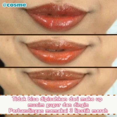 Tidak bisa dipisahkan dari make up musim gugur dan dingin Perbandingan memakai 3 lipstik merah