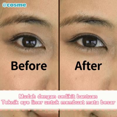 Mudah dengan sedikit bantuan Teknik eye liner untuk membuat mata besar
