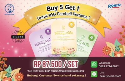 [Buy 5 Get 1] Super Melembapkan dan Mencerahkan! Beauty Mask Kini Hadir di Beautynesia  Store!