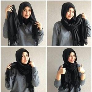 Jangan Memasang Pentul di Bagian Kanan Kiri Hijab