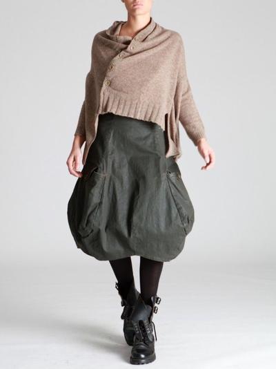 5. Balloon Midi Skirt for Straight Body