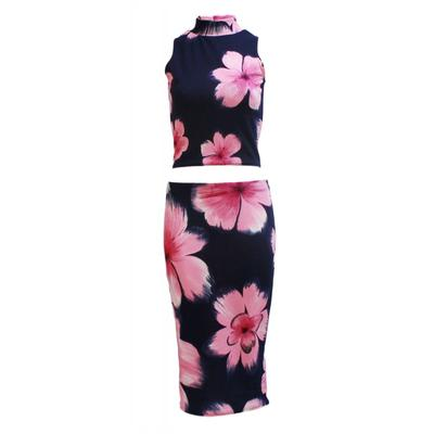 5. Matching Suit Midi Skirt