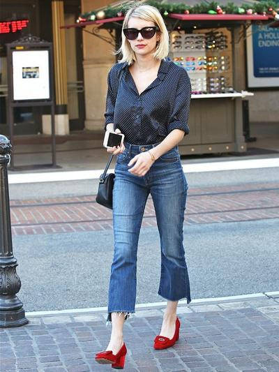 2. Cropped jeans