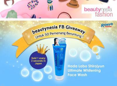 Ayo Ikuti Beautynesia FB Giveaway dan Menangkan 50 Hada Labo Shirojyun Face Wash!