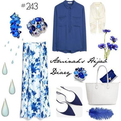 5 Tips Fashion Perpaduan Baju dan Hijab Warna Biru yang Akan Membuatmu Tampil Stylish