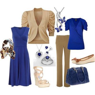 Kombinasi Style Hijab Biru dengan Khaki